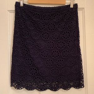 THML Navy Daisy Lace Skirt